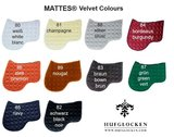 Velvet Square Dressuur zadeldek zonder wol Mattes _
