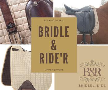 Le Mieux Luxe Suede Zadeldek met Bridle & Ride Logo in bijpassende kleur