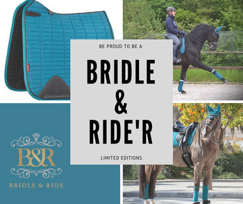 Le Mieux Tressé Zadeldek met Bridle & Ride Logo in bijpassende kleur