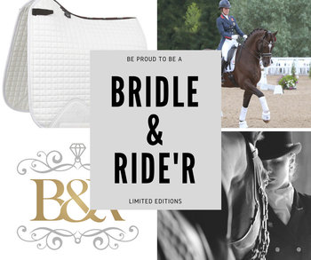 Le Mieux Cotton Zadeldek met Bridle & Ride Logo in bijpassende kleur