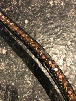 Frontriem in Bruin Bronzé kristallen