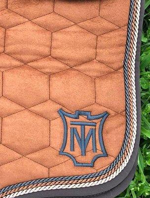 Velvet Square Dressuur zadeldek zonder wol Mattes