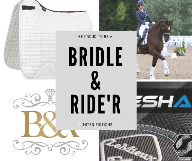 Le Mieux Mesh Air Zadeldek met Bridle & Ride Logo in bijpassende kleur