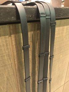 Bridle & Ride teugels extra soepel vlakke rubber 13mm MET stops