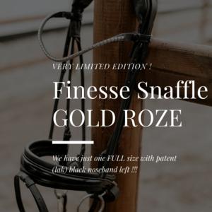 GOLD ROSE Finesse trenshoofdstel Zwart/Zwart